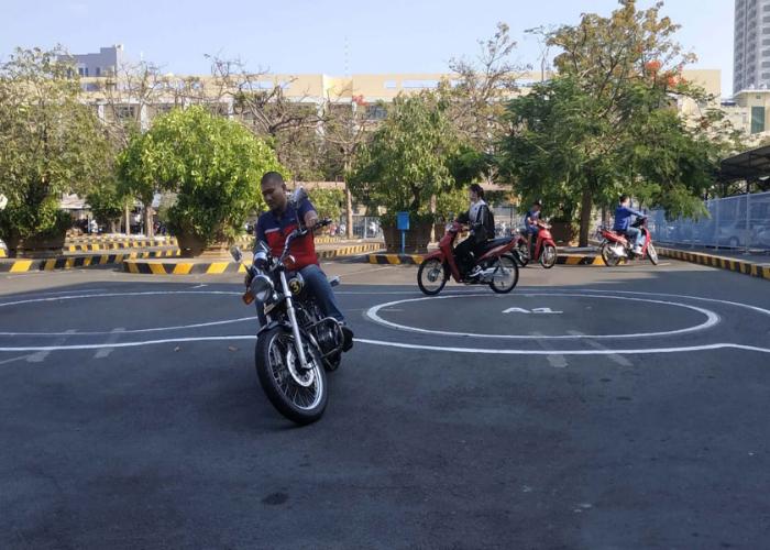 sân thi bằng lái A2 tại Hà Nội