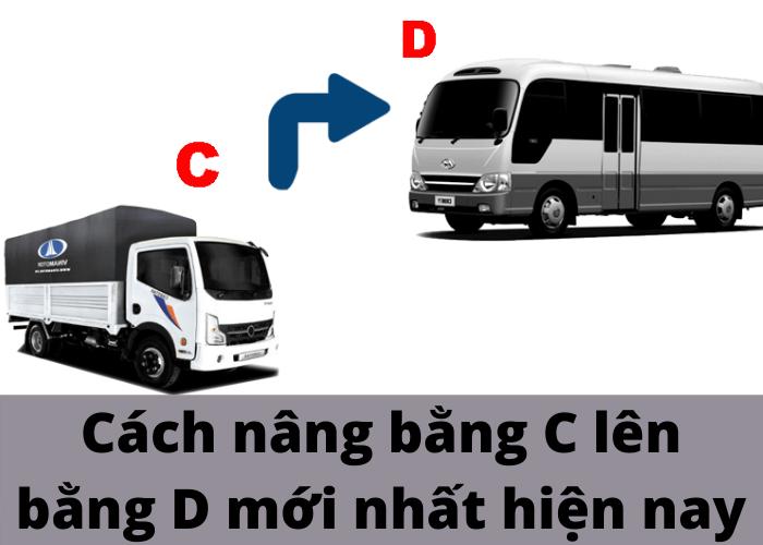 nâng bằng lái xe từ c lên d