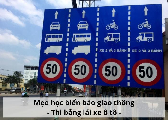 học biển báo giao thông b2